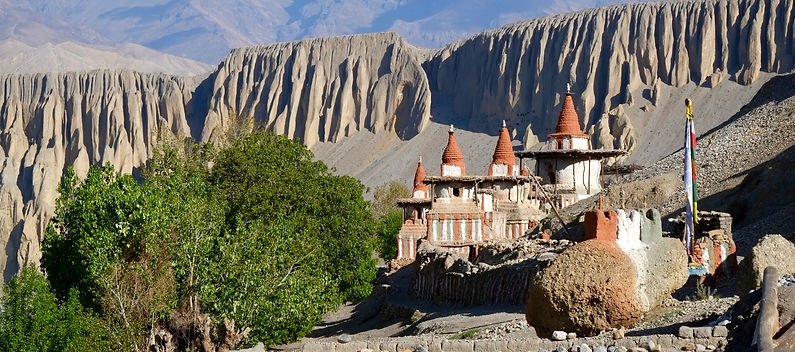 Tangye village in Upper Mustang, Nepal
