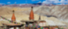 Chortens outside Lo-Manthang, capital of Upper Mustang, Nepal