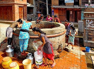 Women at well in Bhaktapur, Nepal