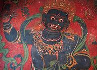 Painted Kali in Khumbum Gompa, Gyantse, Tibet