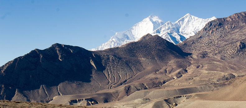 Hill and mountais in Upper Mustang, Nepal