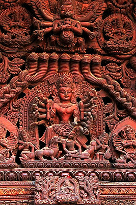 Intricate wood carving, Nepal