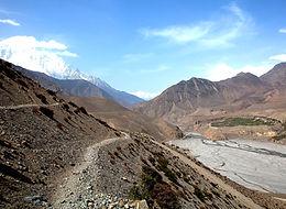 Kali Gandaki river valley, Mustang, Nepal