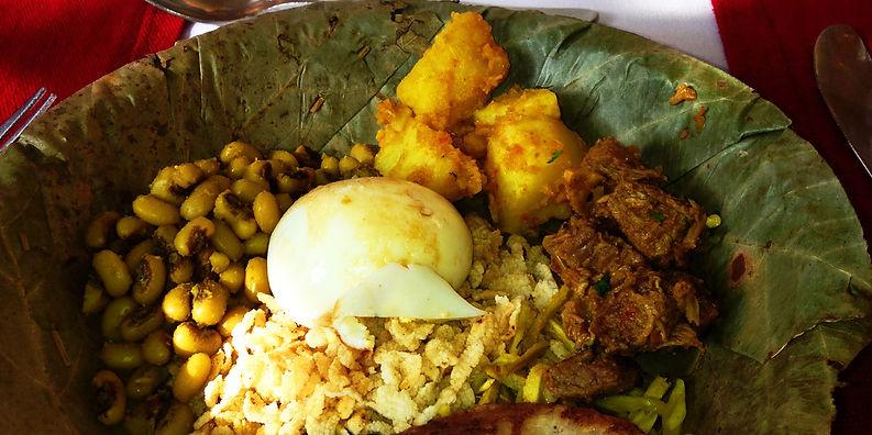 Newari festivl meal, Nepal