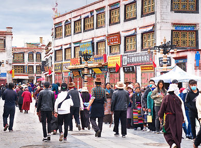 Walking the Kora around the Bharkor, Lhasa, Tibet