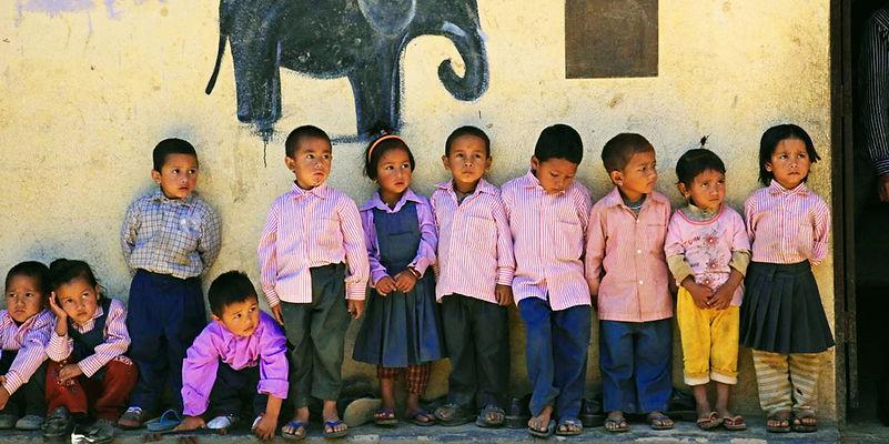 Young children, Shree Shringrery Community School, Nepal