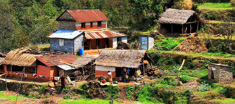 Farm house, middle hills Nepal