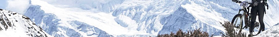 Snow, mountain bike, Nepal