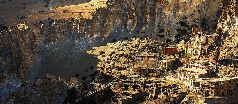 Braga gompa an vllage, Annpura, Nepal