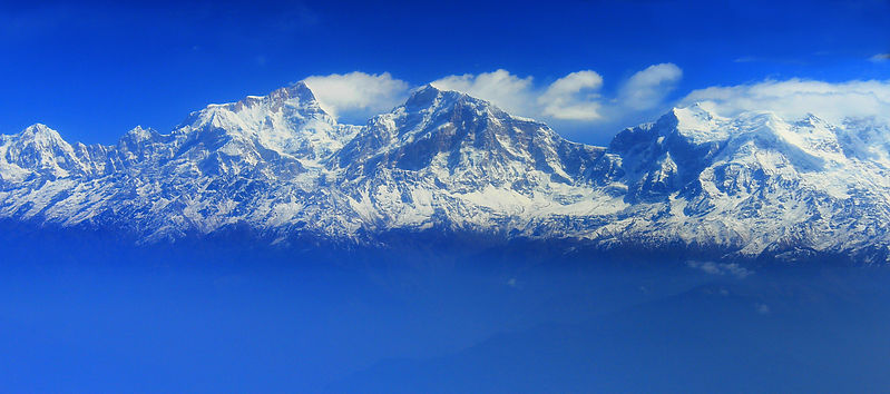 Annapurna ranges from flight Pokhara to Kathmandu, Nepal
