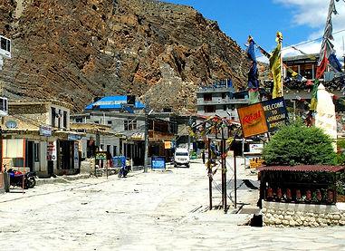 Main stree of Jomsom, Nepal