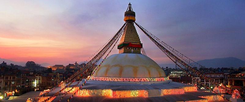 Boudnath Stupa at night, Nepal