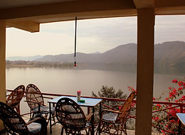 Restaurant over looking Fewa Lake, Pokhara, Nepal