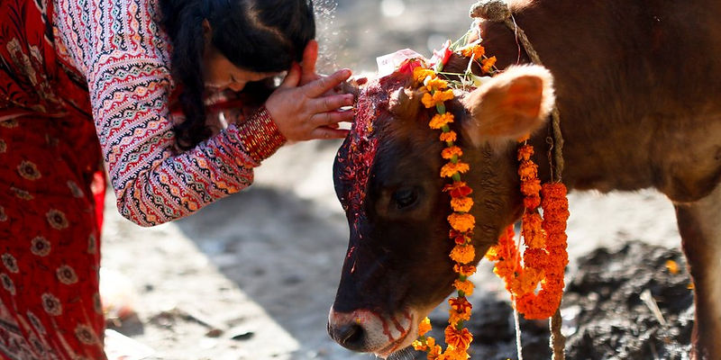 Women watching procession, Nepal