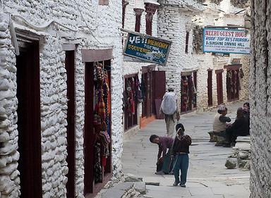 Lane in Marpha village, Annapurna, Nepal