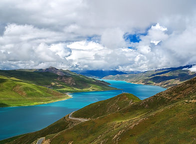 Yamdrok-ts Lake from Khamba Pass, Tibet