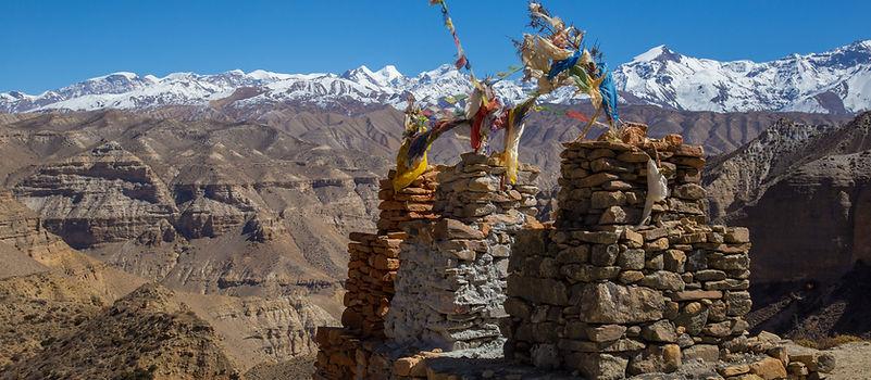 Chungsi La Pass heading towards Samar, Upper Mustang, Nepal