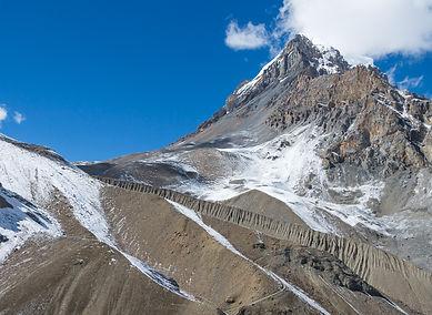 Final trail to Thorong La Pass, Annapurna, Nepal