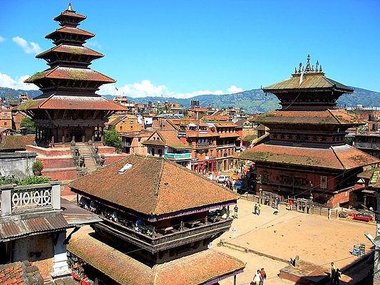 Aerial view Bhaktapur, Nepal
