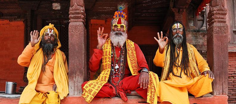 3 Sadhus in Kathmandu