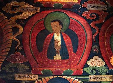 Tibetan art on wall of monastery
