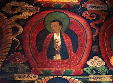 Tibetan art on wall of monastery