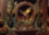 Wooden Tara statue in Khumbum Gompa, Gyantse, Tibet