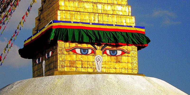 Boudnath Stupa eyes, Nepal