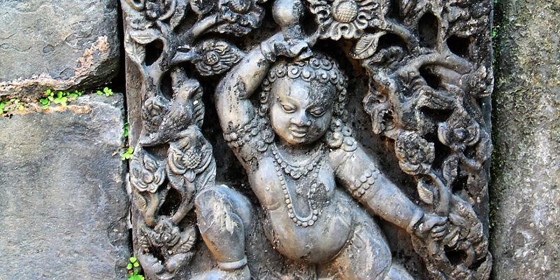 Intricate stone carving, Nepa