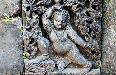 Ancient stone carving from King's bath.  Kathmandu, Nepal