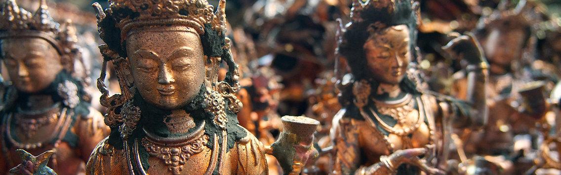 Colletion of Buddhist statues, Kathmandu, Nepal