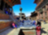 People walkin through Patan Square in Kathmandu, Nepal