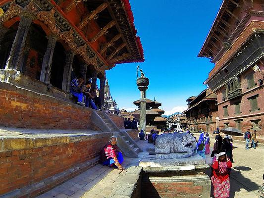 View into Durbar Square, Patan, Nepal
