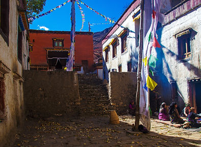 Entrance to Char Gompa, Upper Mustang, Nepal