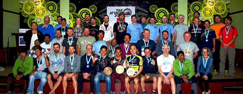 Award ceremony for Yak Attack race, Nepal