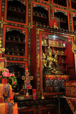 Tibetan Statues in Monastery, Boudhnath, Nepal