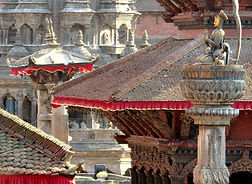Accross the rooftops, Patan square, Nepal