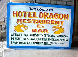 Sign for Hotel Dragon, Kagbeni, Nepal
