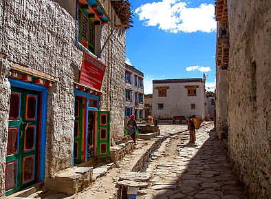 Street in Lo-Manthang, capital of Upper Musang, Nepal