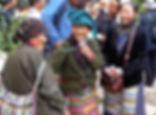 Elderly Tibetan woman enjoying the Shoton Festival at Drepung Monastery near Lhasa, Tibet
