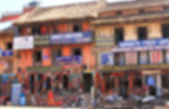 Bustling shops in Patan, Kathmandu, Nepal