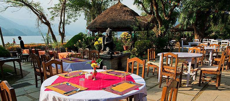 Restaurant by Phewa Lake, Pokhara, Nepal