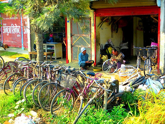 Bike shop, Chitwan, Nepal