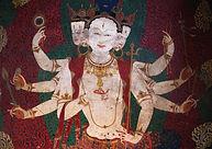 Art in Khumbum Gompa, Gyantse, Tibet
