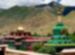 Across the roof tops of Samaye Monastery, Tibet