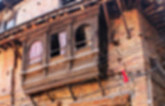 Old weathered building in theback lanes of Patan, Nepal