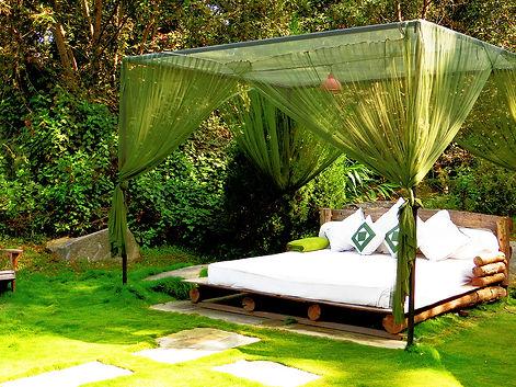 Day bed, wellness retreat, Nepal