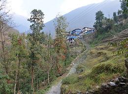 Steps down from Tikhedhunga, Annapurna region, Nepal
