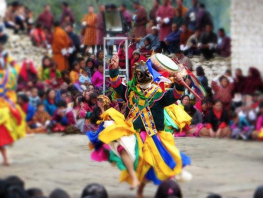 Mask Dancer spinning, Tibet