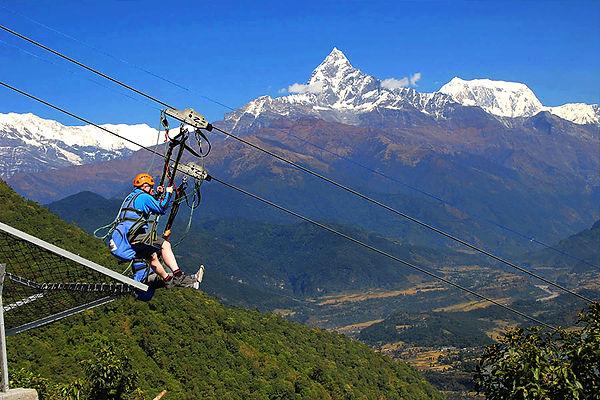 Zip Line, Pokhara, Nepal